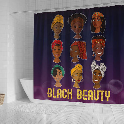 BigProStore Cool Black Beauty Melanin Girls African American Inspired Shower Curtains African Style Designs BPS073 Small (165x180cm | 65x72in) Shower Curtain