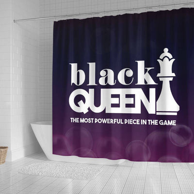BigProStore Cool Black Queen The Most Powerful Piece In The Game African American Print Shower Curtains Afrocentric Bathroom Accessories BPS095 Small (165x180cm | 65x72in) Shower Curtain