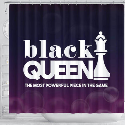 BigProStore Cool Black Queen The Most Powerful Piece In The Game African American Print Shower Curtains Afrocentric Bathroom Accessories BPS095 Shower Curtain