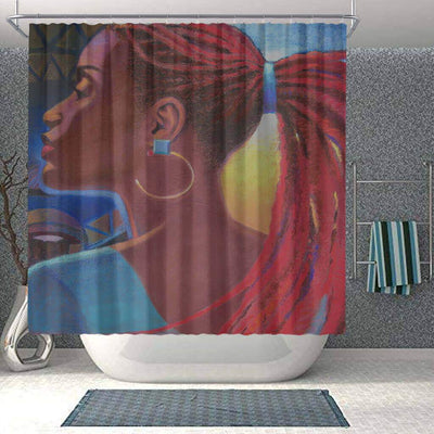 BigProStore Cute African American Art Shower Curtains Black Queen Bathroom Accessories BPS0121 Small (165x180cm | 65x72in) Shower Curtain