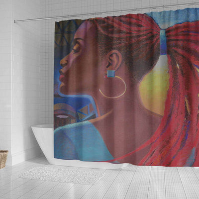 BigProStore Cute African American Art Shower Curtains Black Queen Bathroom Accessories BPS0121 Shower Curtain