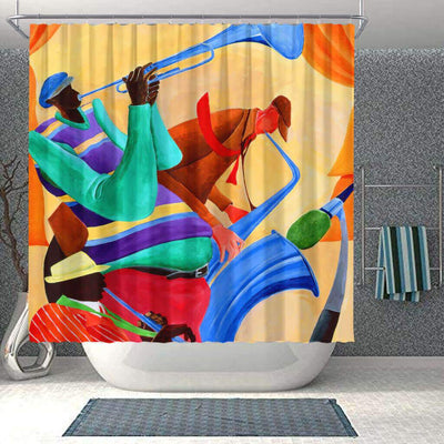 BigProStore Cute African American Art Shower Curtains Melanin Afro Girl Bathroom Decor Idea BPS0176 Small (165x180cm | 65x72in) Shower Curtain