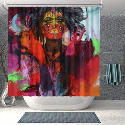 BigProStore Cute African Style Shower Curtain Afro Woman Bathroom Accessories BPS0224 Small (165x180cm | 65x72in) Shower Curtain