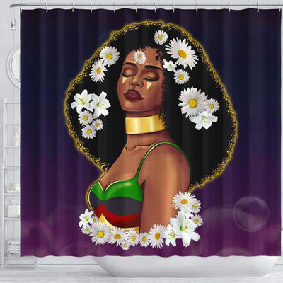 BigProStore Cute Beautiful Black Lady Black African American Shower Curtains Afrocentric Bathroom Accessories BPS065 Shower Curtain