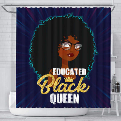 BigProStore Cute Educated Black Queen African American Print Shower Curtains Afrocentric Style Designs BPS114 Small (165x180cm | 65x72in) Shower Curtain