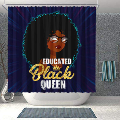 BigProStore Cute Educated Black Queen African American Print Shower Curtains Afrocentric Style Designs BPS114 Shower Curtain