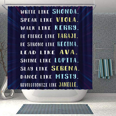 BigProStore Cute Write Like Shonda Speak Like Viola Walk Like Kerry African American Print Shower Curtains Afro Bathroom Decor BPS241 Shower Curtain