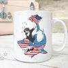 BigProStore Dabbing Bernese Mountain Rides Shark Coffee Mug Father's Day Mother's Day Independence Day Gift Idea BPS125 White / 11oz Coffee Mug