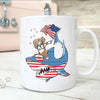 BigProStore Dabbing Boxer Rides Shark Coffee Mug Father's Day Mother's Day Independence Day Gift Idea BPS190 White / 11oz Coffee Mug