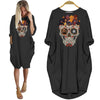 Dachshund Lover Skull Style Women Dress Halloween Gift