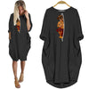 BigProStore Dachshund Mom Shirt Women Pocket Dress Black / S Women Dress