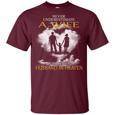 BigProStore My Husband Is In Heaven T-Shirt I Love You Special Father's Day Gift G200 Gildan Ultra Cotton T-Shirt / Maroon / S T-shirt