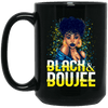 BigProStore Black And Boujee Coffee Mug Pro African Cup For Black Afro Girl Rock BM15OZ 15 oz. Black Mug / Black / One Size Coffee Mug