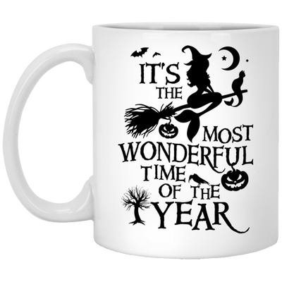 BigProStore Mermaid Mug It's The Most Wonderful Time Of The Year Halloween Gifts XP8434 11 oz. White Mug / White / One Size Coffee Mug