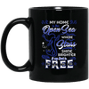 BigProStore Mermaid Mug My Home Is The Open Sea Where Stars Shine Brighter BM11OZ 11 oz. Black Mug / Black / One Size Coffee Mug