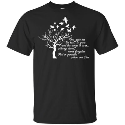 BigProStore I Miss My  Mom and Dad T-shirt Love Daddy Mommy in Heaven Gift Idea G200 Gildan Ultra Cotton T-Shirt / Black / S T-shirt