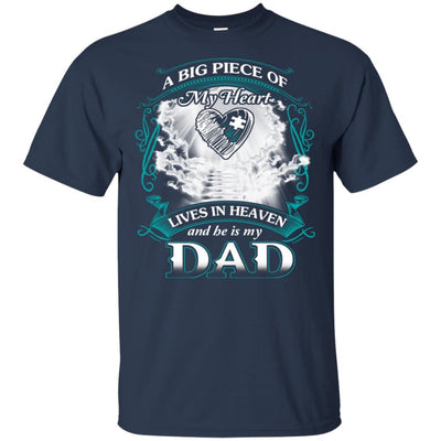 BigProStore Remembering Dad On His Death Anniversary Gift Missing Daddy T-Shirt G200 Gildan Ultra Cotton T-Shirt / Navy / S T-shirt