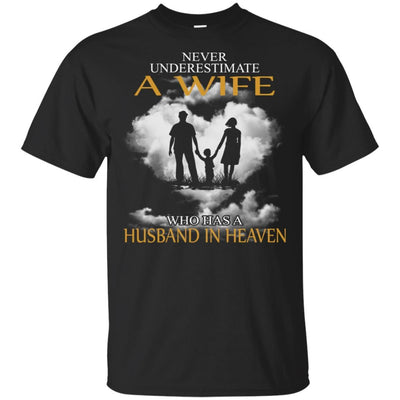 BigProStore My Husband Is In Heaven T-Shirt I Love You Special Father's Day Gift G200 Gildan Ultra Cotton T-Shirt / Black / S T-shirt