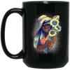BigProStore Pretty Black Girl Mug African American Coffee Cup For Melanin Pride BM15OZ 15 oz. Black Mug / Black / One Size Coffee Mug