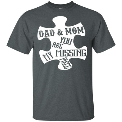 BigProStore Dad And Mom You Are My Missing Piece T-Shirt Father's Day Gift Idea G200 Gildan Ultra Cotton T-Shirt / Dark Heather / S T-shirt