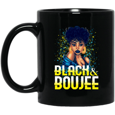 BigProStore Black And Boujee Coffee Mug Pro African Cup For Black Afro Girl Rock BM11OZ 11 oz. Black Mug / Black / One Size Coffee Mug
