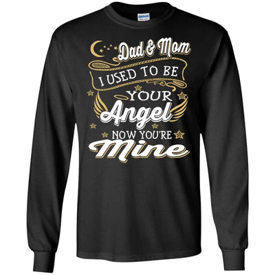 BigProStore My Dad And Mom Are My Angels T-Shirt Missing My Love In Heaven Quote G240 Gildan LS Ultra Cotton T-Shirt / Black / S T-shirt