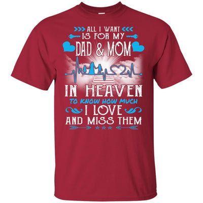 BigProStore I Love My Dad And Mom In Heaven Missing T-Shirt Father's Day Gift Idea G200 Gildan Ultra Cotton T-Shirt / Cardinal / S T-shirt