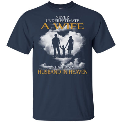 BigProStore My Husband Is In Heaven T-Shirt I Love You Special Father's Day Gift G200 Gildan Ultra Cotton T-Shirt / Navy / S T-shirt