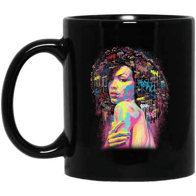 BigProStore African American Cup Black Girl Magic Mug For Melanin Women Afro Girls BM11OZ 11 oz. Black Mug / Black / One Size Coffee Mug