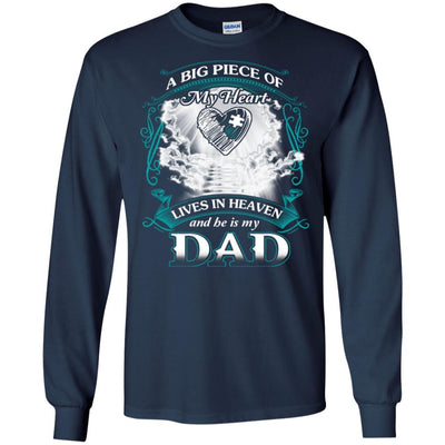 BigProStore Remembering Dad On His Death Anniversary Gift Missing Daddy T-Shirt G240 Gildan LS Ultra Cotton T-Shirt / Navy / S T-shirt