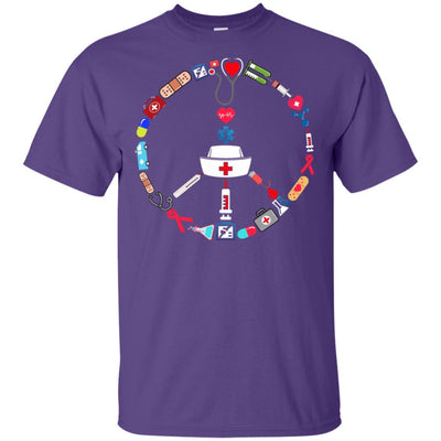 BigProStore Nurse Peace Day Cute Nursing Symbol Device T-Shirt Design Fashion Tee G200 Gildan Ultra Cotton T-Shirt / Purple / S T-shirt