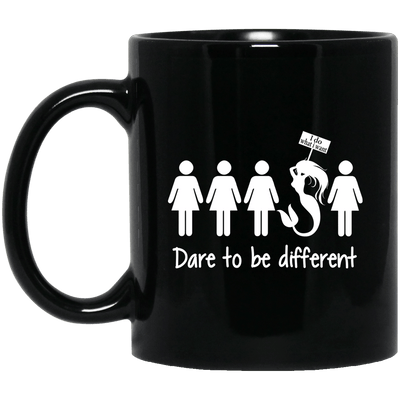 BigProStore Dare To Be Different Mermaid Mug Cool Gift For Girls Women BM11OZ 11 oz. Black Mug / Black / One Size Coffee Mug