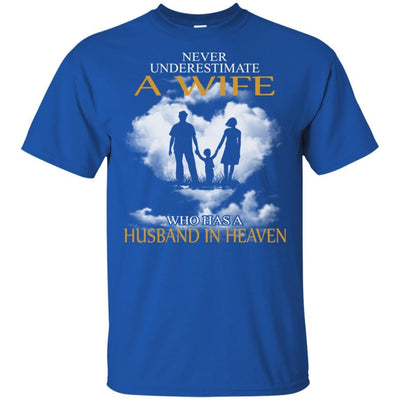 BigProStore My Husband Is In Heaven T-Shirt I Love You Special Father's Day Gift G200 Gildan Ultra Cotton T-Shirt / Royal / S T-shirt