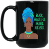 BigProStore Black Beautiful Brave And Blessed Mug African American Women Men Cup BM15OZ 15 oz. Black Mug / Black / One Size Coffee Mug