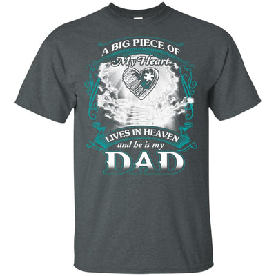 BigProStore Remembering Dad On His Death Anniversary Gift Missing Daddy T-Shirt G200 Gildan Ultra Cotton T-Shirt / Dark Heather / S T-shirt