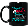 BigProStore August Nurse Are Sunshine Mixed With Hurricane Birthday Mug Gifts BM11OZ 11 oz. Black Mug / Black / One Size Coffee Mug