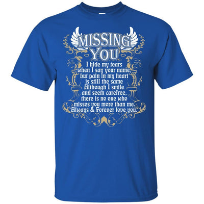 BigProStore Missing You Quote I Love My Daddy T-Shirt Cool Father's Day Gift Idea G200 Gildan Ultra Cotton T-Shirt / Royal / S T-shirt