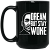 BigProStore Dream But Stay Woke Mug African American Coffee Cup For Pro Women Men BM15OZ 15 oz. Black Mug / Black / One Size Coffee Mug