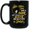 BigProStore When You Have A Queen Don't Reshuffle The Deck Melanin Women Mug Gift BM15OZ 15 oz. Black Mug / Black / One Size Coffee Mug