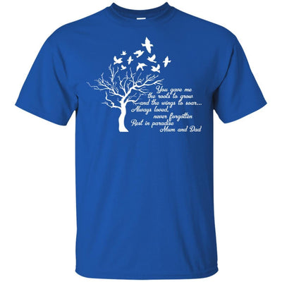 BigProStore I Miss My  Mom and Dad T-shirt Love Daddy Mommy in Heaven Gift Idea G200 Gildan Ultra Cotton T-Shirt / Royal / S T-shirt