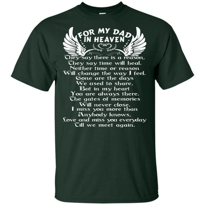 BigProStore For My Dad In Heaven Father's Day Gift Idea I Love You Daddy T-Shirt G200 Gildan Ultra Cotton T-Shirt / Forest / S T-shirt
