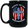 BigProStore Police Mug Blessed Are The Peacemakers Law Enforcement Gifts BM15OZ 15 oz. Black Mug / Black / One Size Coffee Mug