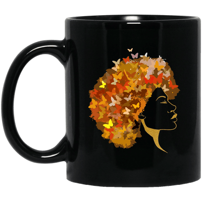 BigProStore Art Black Women Mug African Coffee Cup For Pro Black Pride Afro Girl BM11OZ 11 oz. Black Mug / Black / One Size Coffee Mug