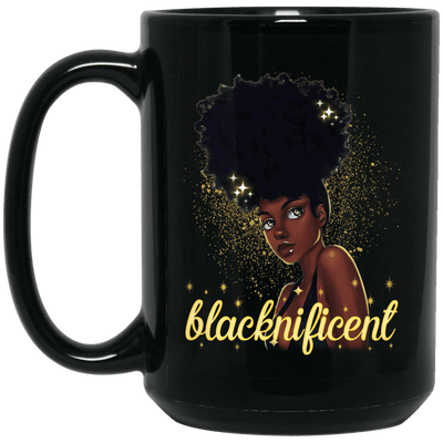 BigProStore Blacknificent Mug African Coffee Cup For Melanin Women Pro Black Girl BM15OZ 15 oz. Black Mug / Black / One Size Coffee Mug
