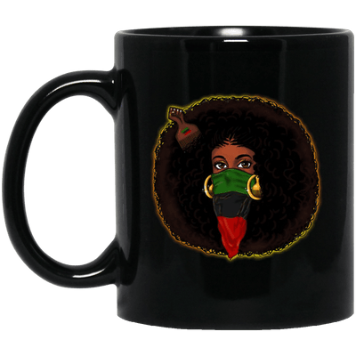 BigProStore Black Girl Magic Coffee Mug African Melanin Pride Afro Girl Cup Design BM11OZ 11 oz. Black Mug / Black / One Size Coffee Mug