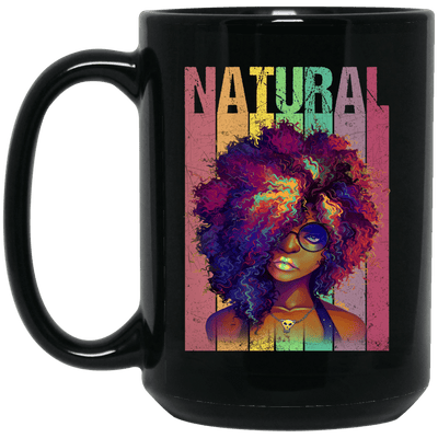 BigProStore Naturual Hair Mug African American Coffee Cup For Melanin Afro Girl BM15OZ 15 oz. Black Mug / Black / One Size Coffee Mug