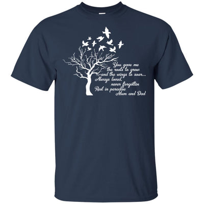 BigProStore I Miss My  Mom and Dad T-shirt Love Daddy Mommy in Heaven Gift Idea G200 Gildan Ultra Cotton T-Shirt / Navy / S T-shirt