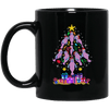 BigProStore Manatee Christmas Tree Cool Chubby Mermaid Mug BM11OZ 11 oz. Black Mug / Black / One Size Coffee Mug