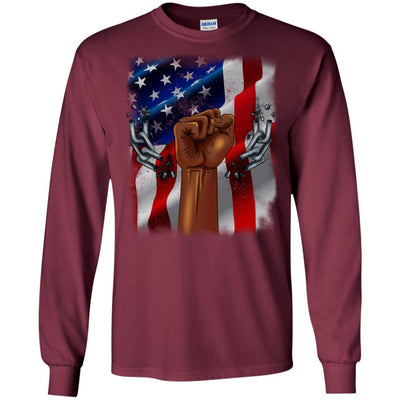 BigProStore African American Family Reunion T-Shirt Designs For Melanin Women Men G240 Gildan LS Ultra Cotton T-Shirt / Maroon / S T-shirt