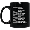 BigProStore I Am Black Woman Cup Beautiful Magic Melanin Poppin Afro Girl Rock Mug BM11OZ 11 oz. Black Mug / Black / One Size Coffee Mug
